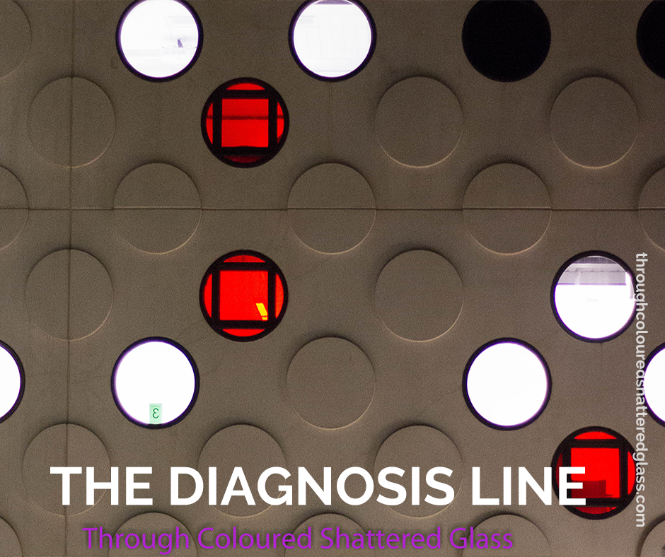 The diagnosis line.